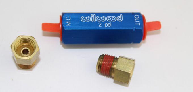 Mustang II Wilwood Brake Line Residual Valves